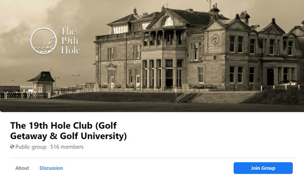 THe 19th Hole Facebook Group